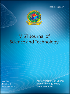 Vol. 2, No. 1, (2013): MIST Journal of Science and Technology
