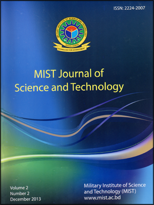 Vol. 2(2), 2013: MIST Journal of Science and Technology